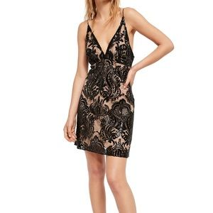 Free People night shimmers mini dress